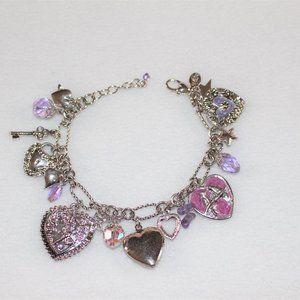 Kirks Folly Retired Love Never Dies Charm Bracelet